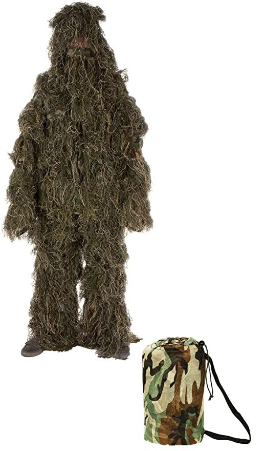 2cb220e5f59dc Modern Warrior Woodland and Forest Design Ghillie Suit, 3-Piece, One Size  Fits