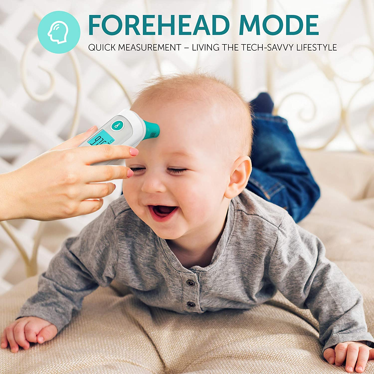 Forehead Thermometer – Thermometer for Fever – Ear Medical Digital Infrared Temporal Thermometer Best for Baby, Kids and Adults
