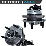 Detroit Axle 513214 Front Wheel Bearing and Hub Assembly 5-Lug (2pc Set, w/ABS) Replacement for 2005 2006 2007 2008 2009…