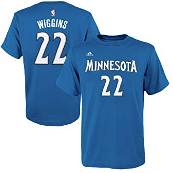 Minnesota Timberwolves Andrew Wiggins Blue Name and Number T-Shirt (2X)