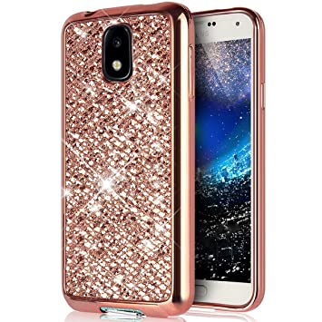 Galaxy J7 2017 caso, [con purpurina TPU caso] ikasus ultrafina ...