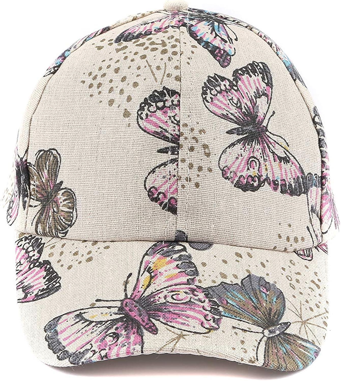 HT081 Women /& Girls Butterfly Adjustable Canvas Baseball Hip HOP CAPS Sun Summer Hats Cowboy Hats Trucker Hats