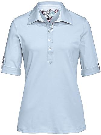 af8ce55e60f1 Peter Hahn Damen - Polo-Shirt mit 1 2-Arm, blau, Damen-Polo-Shirts ...