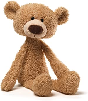 GUND Toothpick Teddy Bear Stuffed Animal Soft Plush, Beige, 15