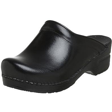 9dc942b429e4b Dansko Women's Sonja Cabrio Leather Clog, Black, 38 EU/7.5-8 B(M) US