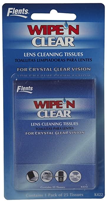 Flents Wipe n Clear Lens Cleaning Tissues-25 ct