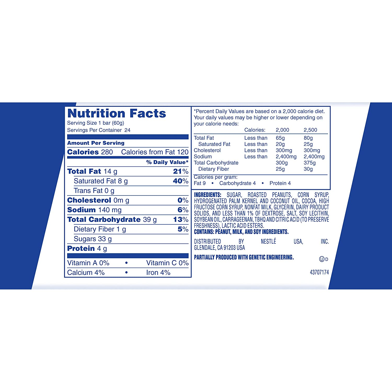 Nestle Milk Chocolate Bar Nutrition Facts - Nutrition Ftempo