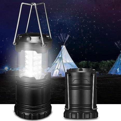Portable Camping Lantern USB LED Hiking Night Light Lamp Collapsable Flashligh