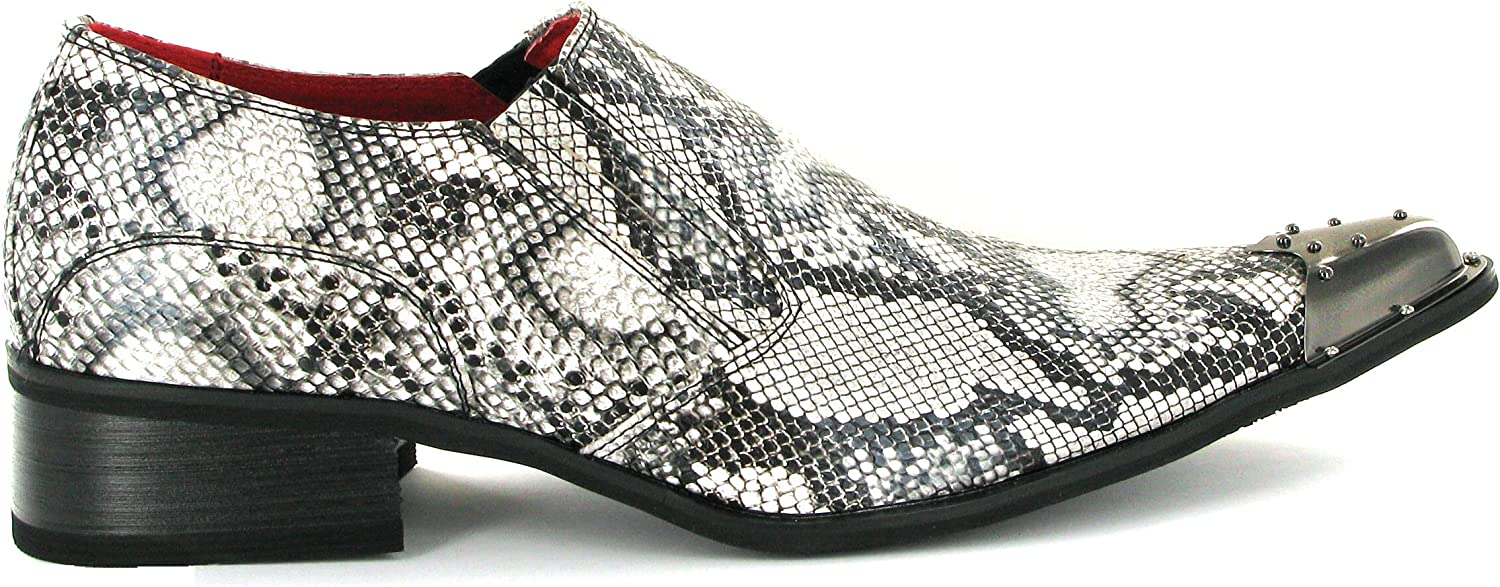 Party Mens USA Flag and News paper print Loafers with Metal Toe Cow boy Look