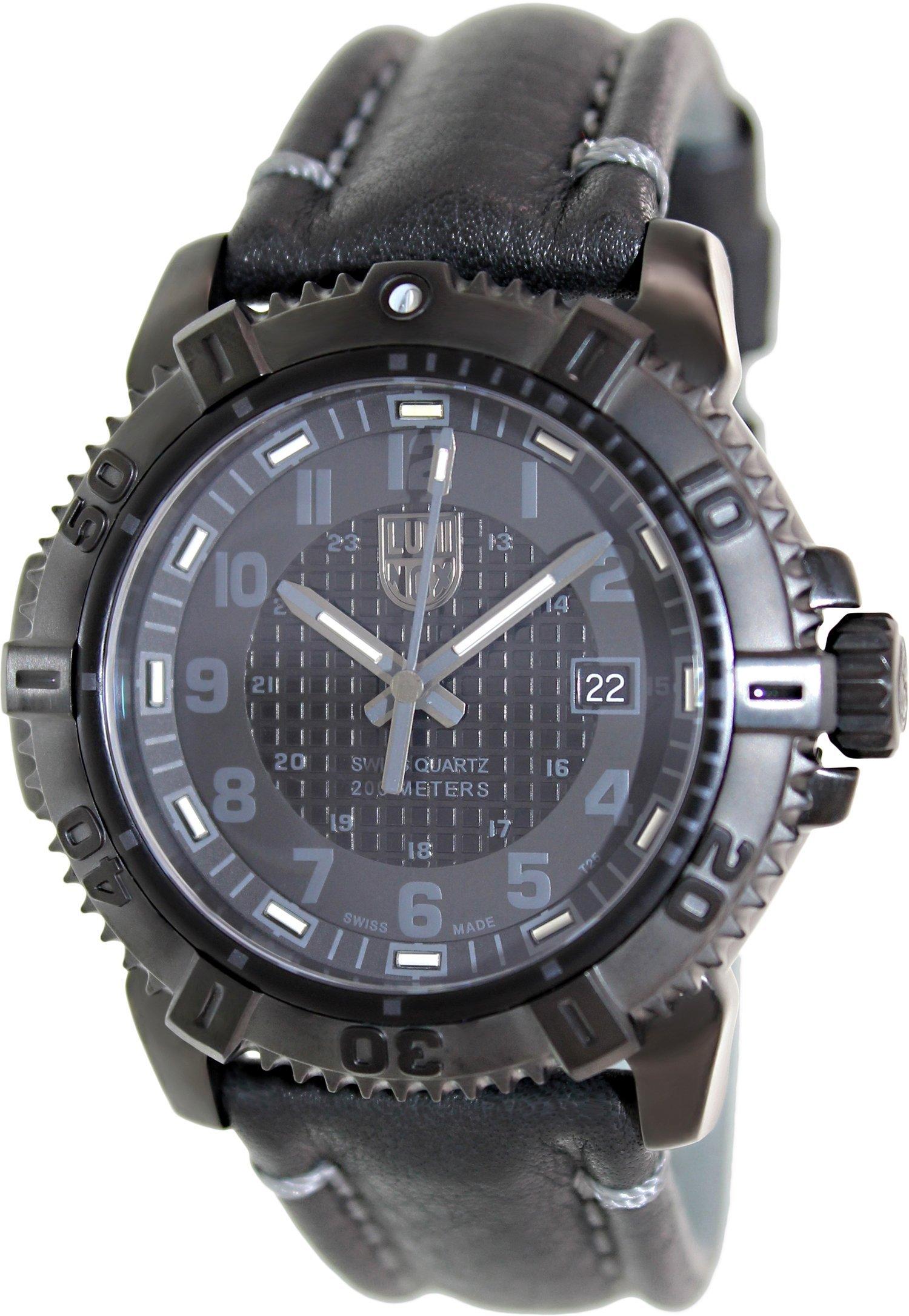 Luminox Modern Mariner Black Dial Ss Leather Quartz Men S Watch 6251 Bo