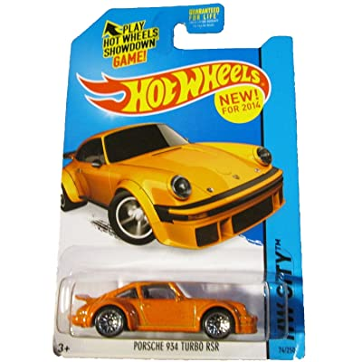 Hot Wheels 2014 HW City Porsche 934 Turbo RSR 74/250, Orange: Toys & Games