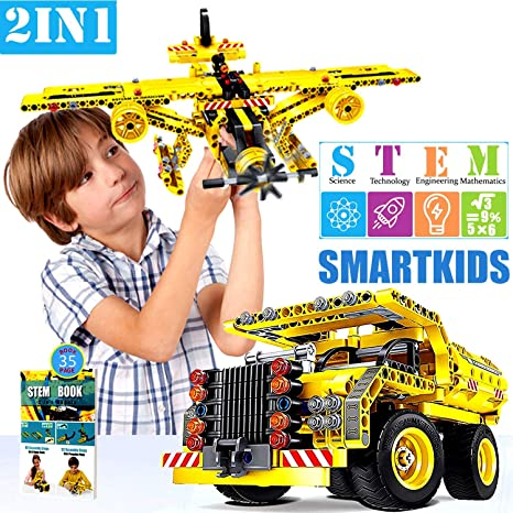 Zilow Construction Engineering STEM Building Sets for Boy & Girl 7 Year Old  & Up Perfect Present for 8 9 10 11-yr Education Blocks Build or Take Apart