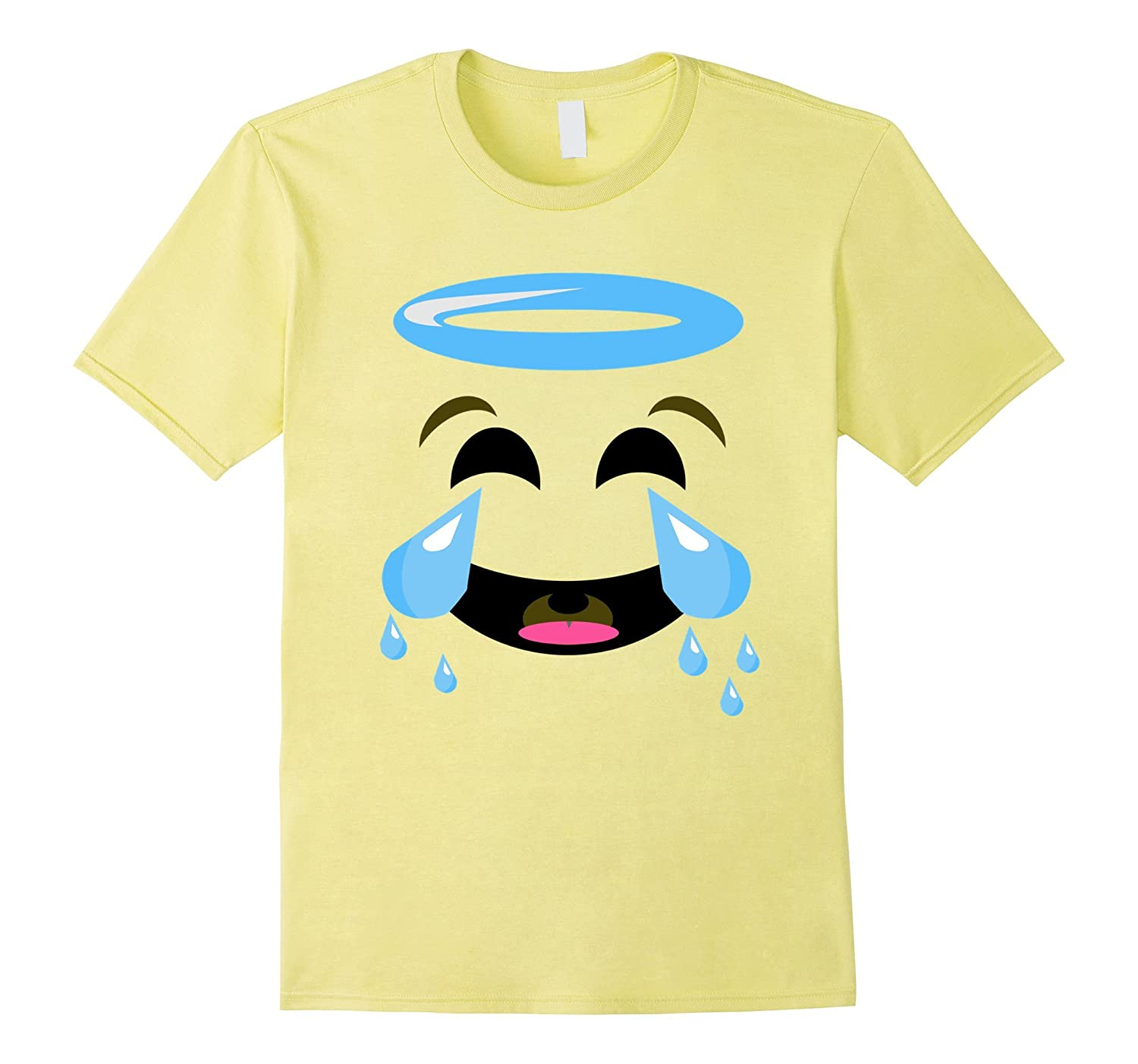 Angel Crying Face Funny Emoji Shirt - Group Couple Halloween-FL