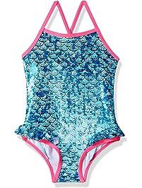 cbca7a66b6 Pink Platinum Girls  Mermaid Foil 1-Piece Swimsuit