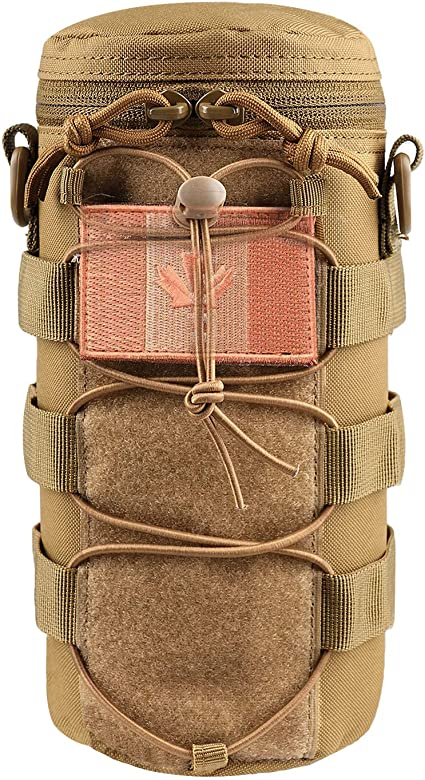 AMYIPO Water Bottle Pouch Molle Tactical Holder Storage Bag for 32oz Carrier Black