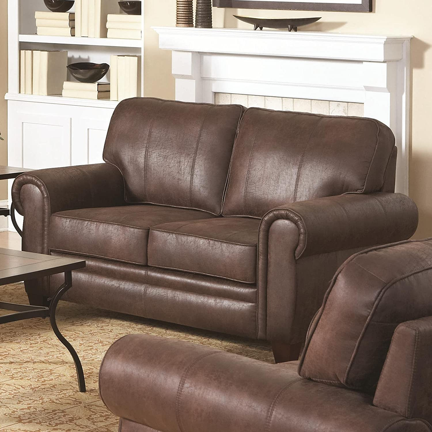 Amazon Coaster Home Furnishings Traditional Loveseat