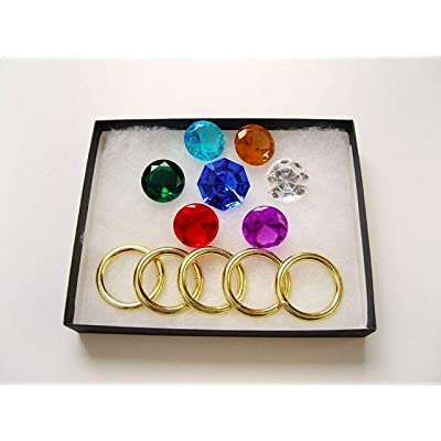 More Toys Sonic - Seven 7 Chaos Emeralds and Five 5 Power Rings: Toys & Games