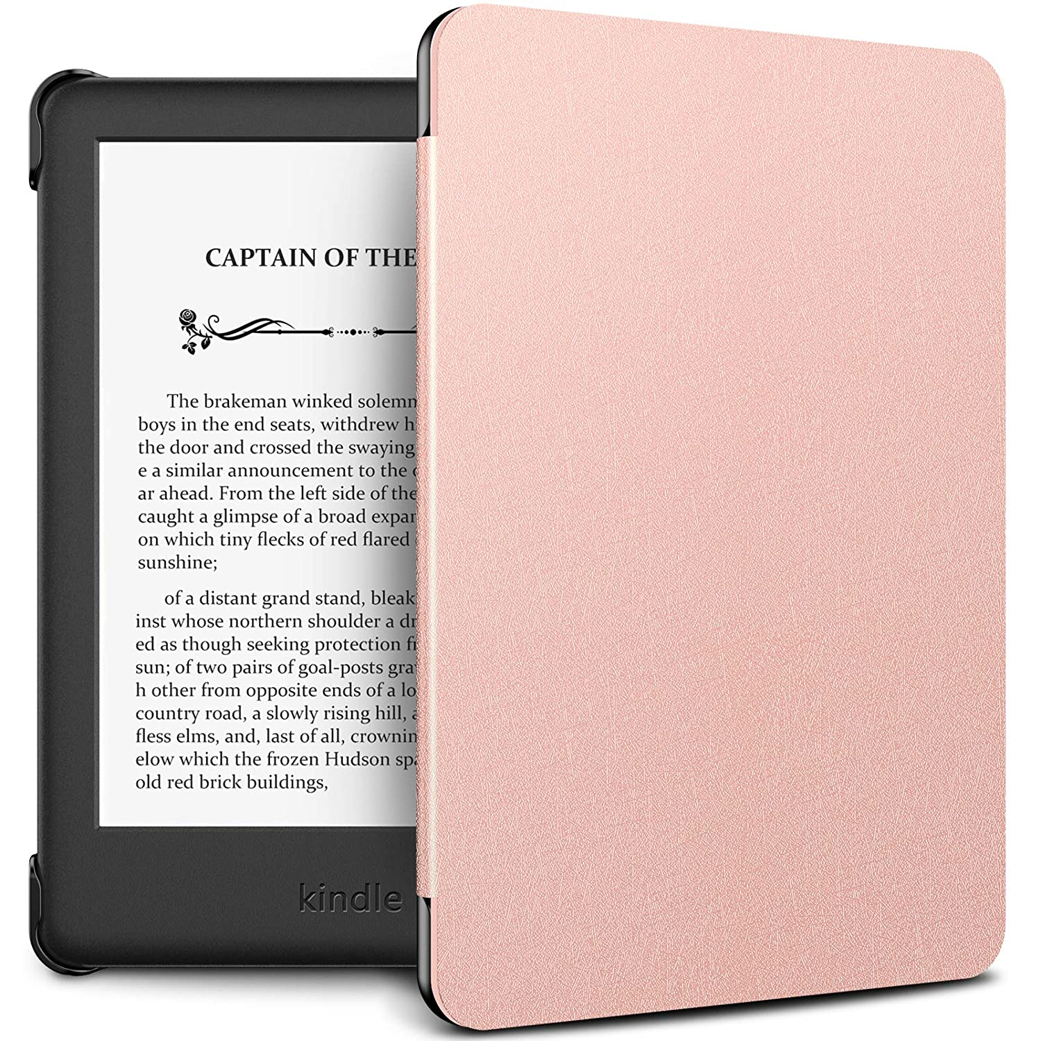 new concept 4a7f3 d3a4f INFILAND Kindle 10th Gen 2019 Case, Shell Case Cover Auto Wake/Sleep  Compatible with All-New Kindle 10th Generation 2019 Release Only, Rose-Gold