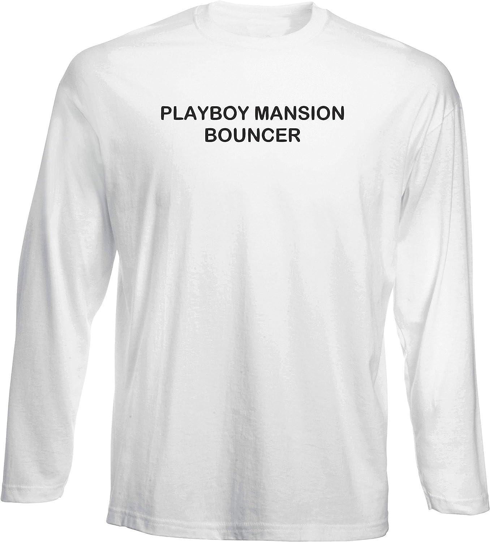 T-Shirt Manica Lunga Uomo Bianca TDM00219 Playboy Mansion BOUNCHER