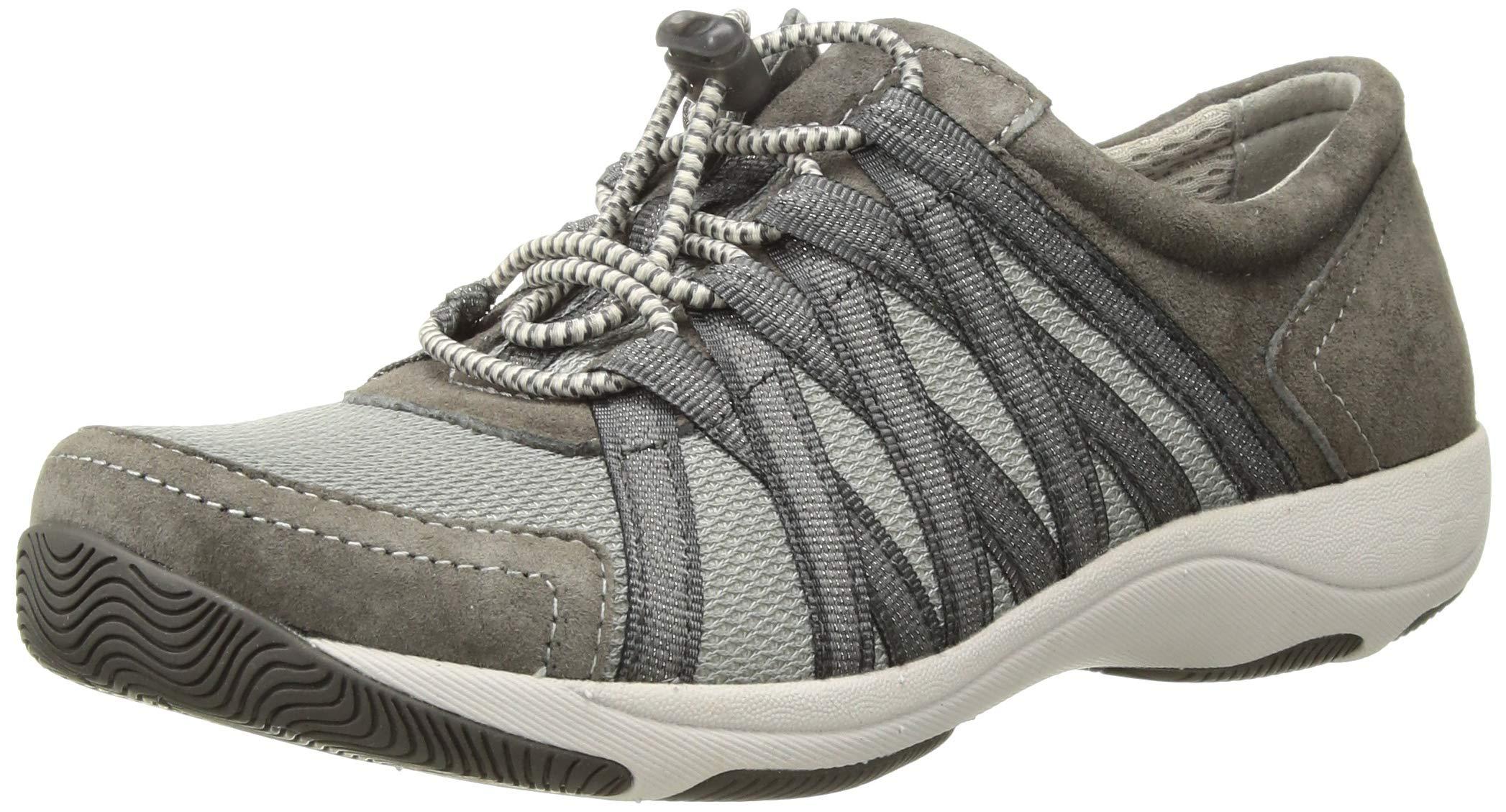 Dansko Women's Honor Fashion Sneaker, Charcoal Suede, 40 EU/9.5-10 M US