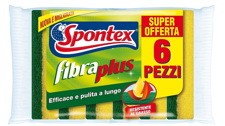 N.A. Spontex Plus X6 Fibraplus Giallo//Verde Fibra Poliuretano