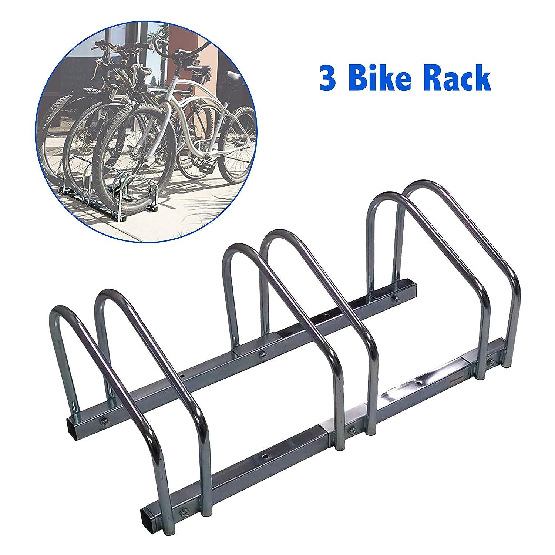Outdoor Bike Stand EasyGoProducts EGP-BIK-003 EasyGo Floor Stationary Triple Bike Wheel Rack Indoor