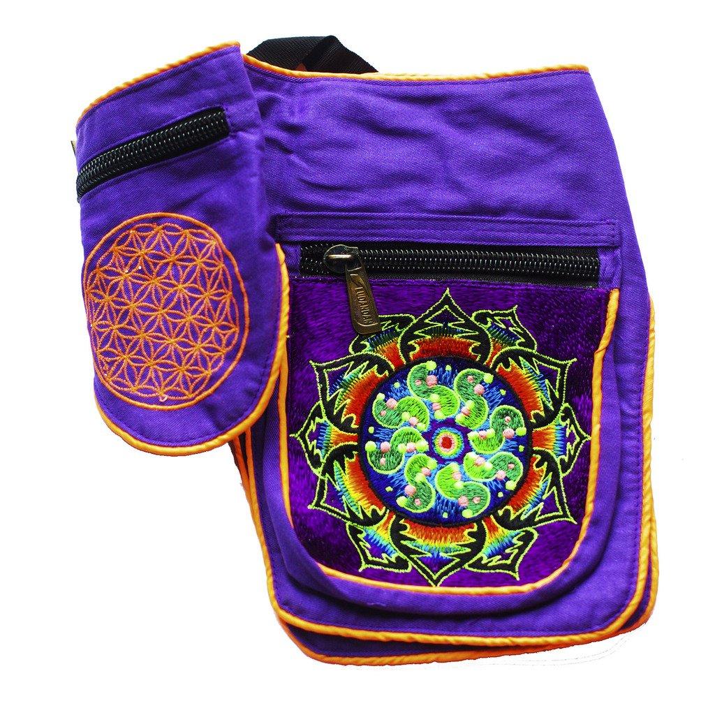 ImZauberwald Tidcombe Crop Circle Beltbag Flower of Life UV Active 5 Pockets
