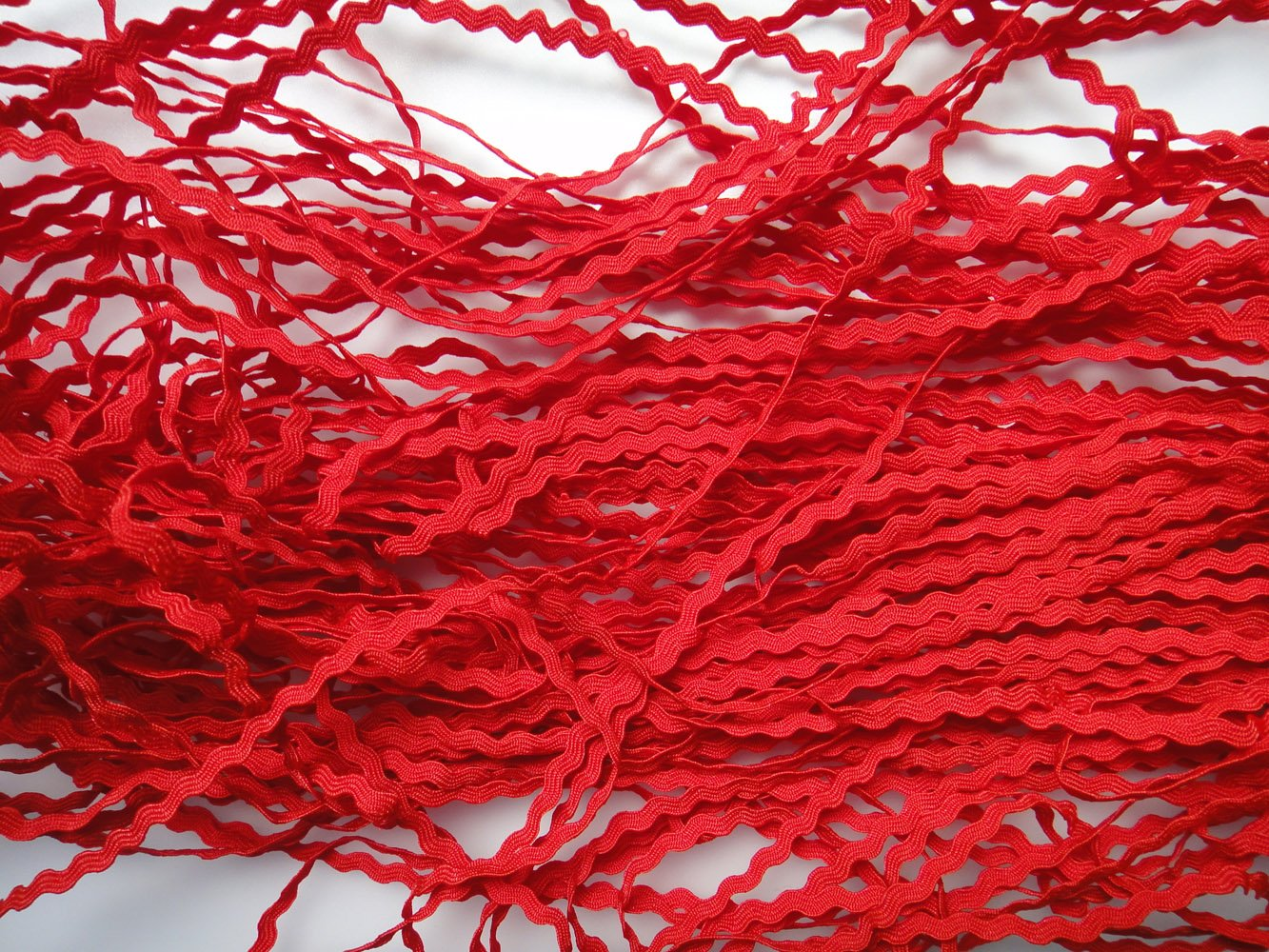 Lyracces Wholesale Lots 50yards Mini Woven Zigzag Rick Rack Ribbon Ric Rac Trims Scrapbooking Dressmaking 5mm, White