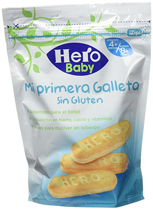 Hero Baby Mi primera Galleta sin Gluten de Fácil Disolución ...