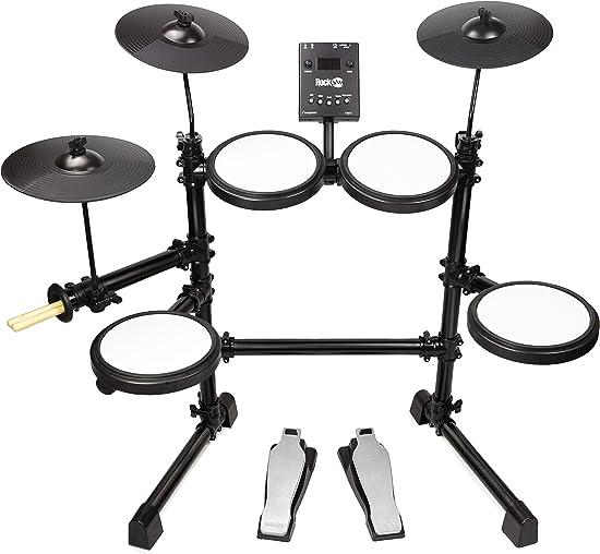 front facing rockjam mesh head kit electronic drum set