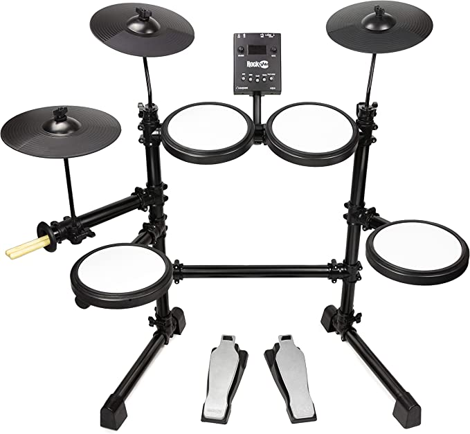 RockJam Electronic Mesh 8-Piece Drum Kit - Best low price Kit