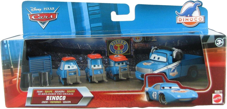 Amazon Com Team Dinoco King Crew 1 55 Scale 3 Pittys Crew Chief Piston Cup Nights Series Toys Games
