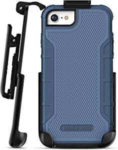 iPhone 6 Tough Case w/Built in Screen Protector, American Armor² (Heavy Duty) Rugged Case w/Holster Clip for Apple iPhone6 4.7