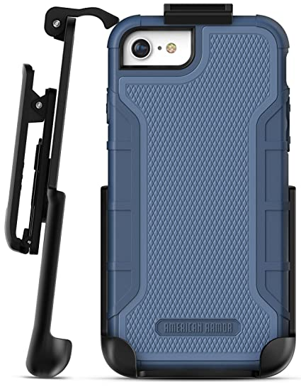 on sale 164ac c59b4 iPhone 8 Tough Belt Clip Case - Encased American Armor² with Built in  Screen Protector, (Heavy Duty) Rugged Case with Holster Clip for Apple  iPhone8 ...