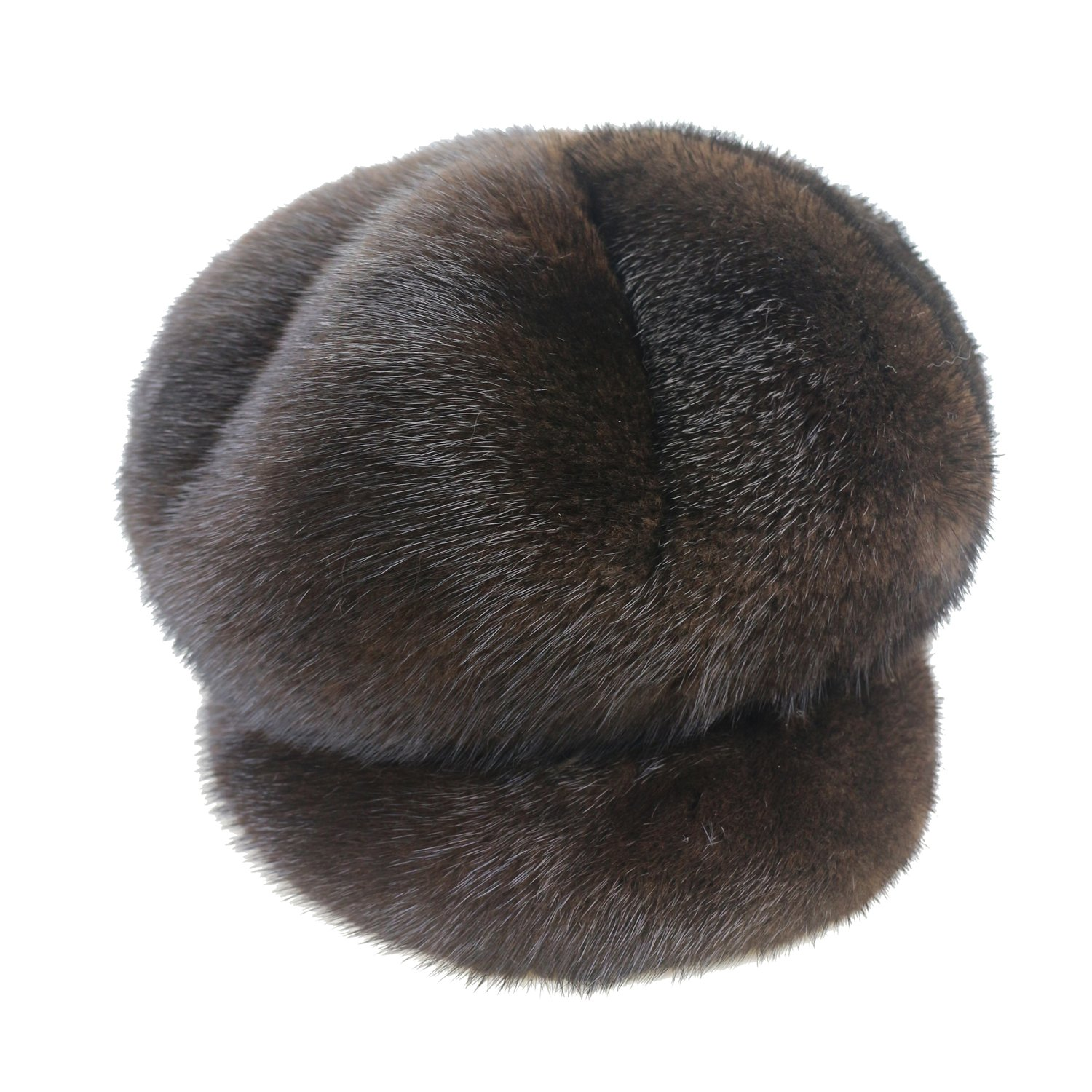 Ysting Women's Real Mink Fur Hat Natural Mink Fur Cap Winter Women (Dark coffee) by Ysting&CO