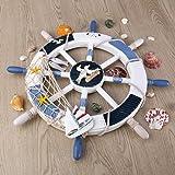 WINOMO 18-Inch Wheel Wall Decor Nautical Decor