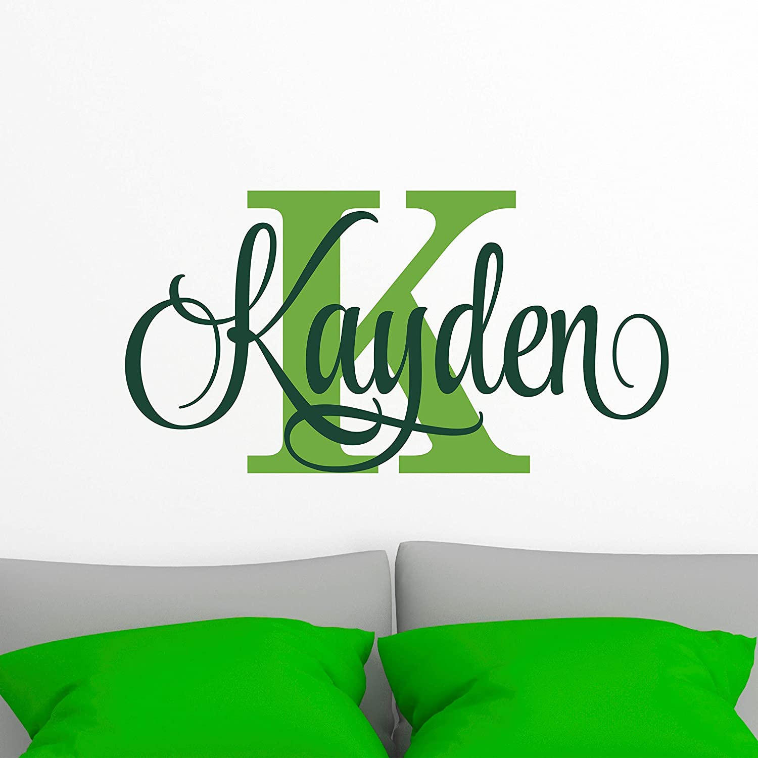 Name Wall Decal Sticker Custom Name Wall Decal Girls Room Boys Room Personalized Name Wall Decal Nursery Decal Baby Monogram Vinyl Wall Art