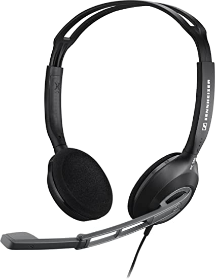 Auricolare Cuffie con Microfono Mic Cuffie VOIP Skype per PC Computer Laptop Sliver-Black