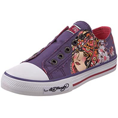 042a833c1 Amazon.com | Ed Hardy Little Kid/Big Kid Lowrise Sneaker, Purple w ...