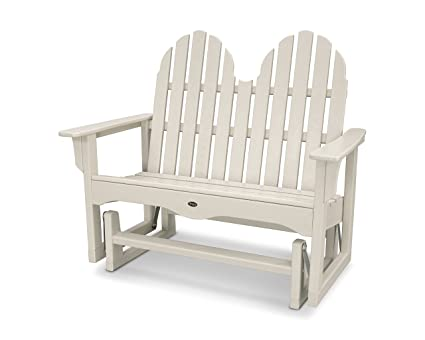 Trex Outdoor Furniture Cape Cod Adirondack 48u0026quot; Glider In Sand Castle