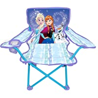 Jakks Pacific Frozen Camp Chair for Kids, Portable Camping Fold N Go Chair with Carry Bag, Frozen Sparkle Like Magic (47939)