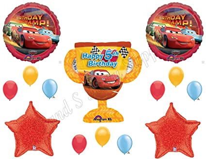 DISNEY CARS 5th Birthday Balloons Decoration Supplies Party Lightning McQueen By Anagram