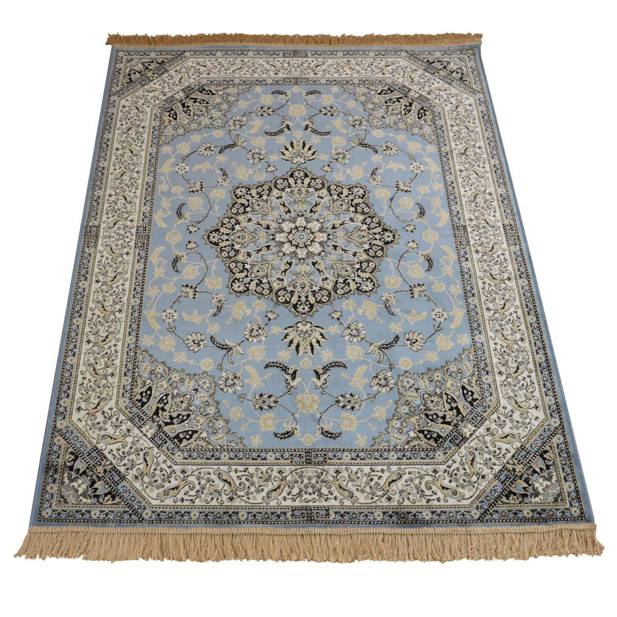 WEBTAPPETI Orientteppich Position klassisch Teppich RUBINE 317-azzurro Parure hellblau