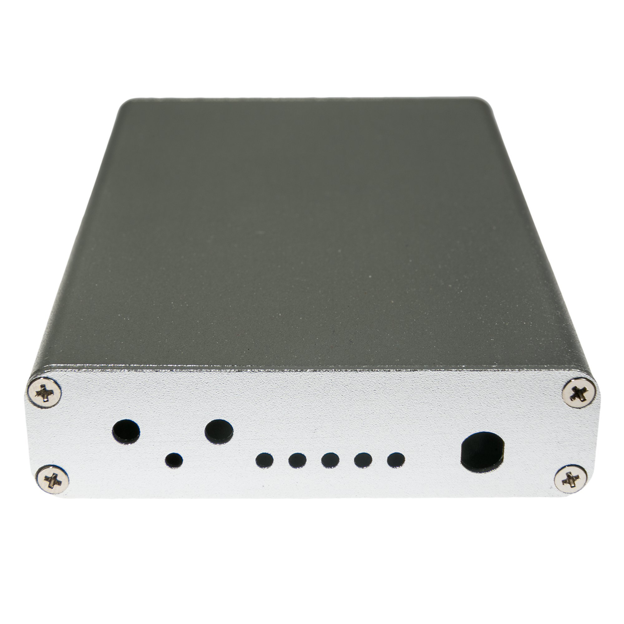 NooElec Extruded Aluminum Enclosure Kit for HackRF One by Great Scott Gadgets (Silver)