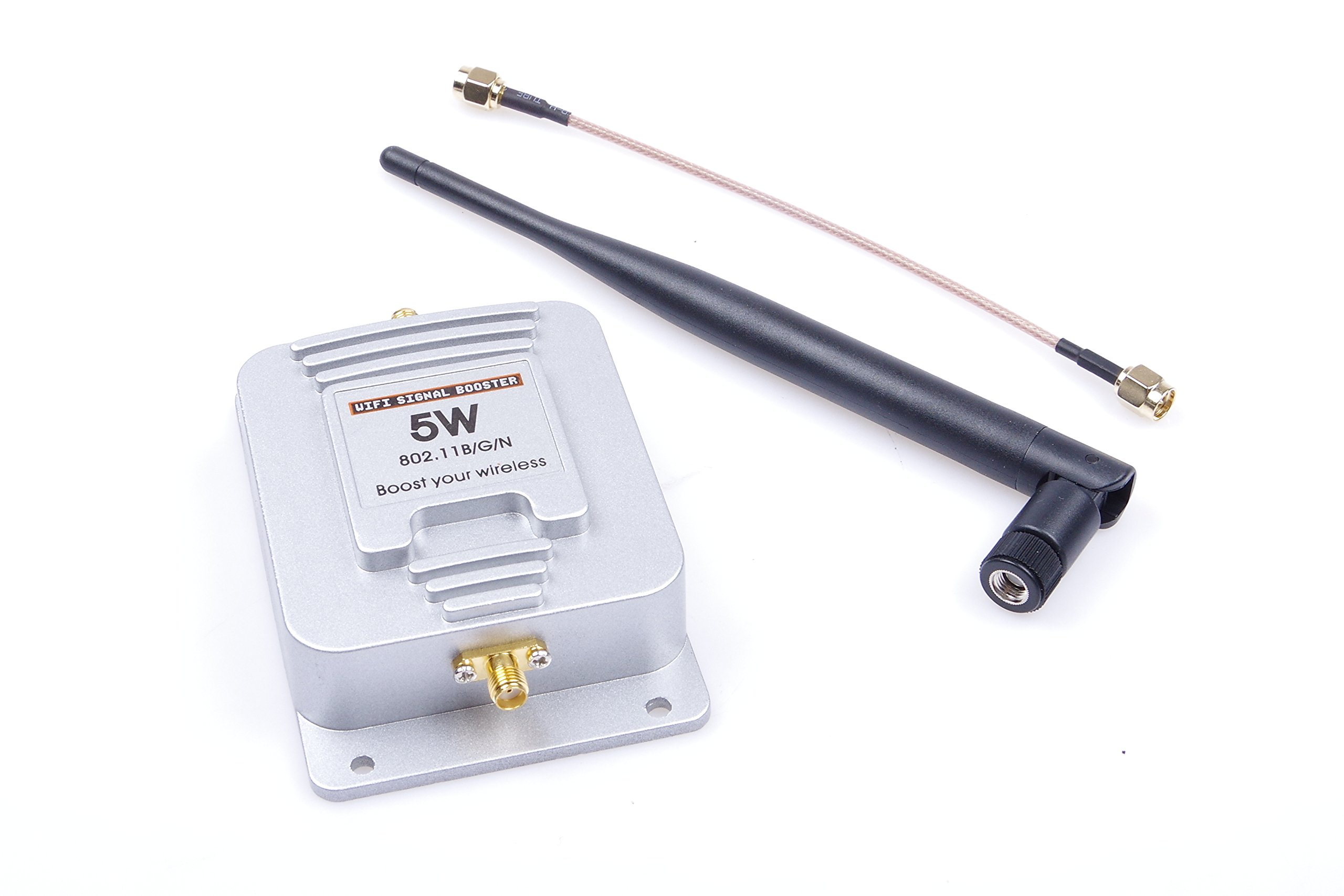 5W 2.4GHz WIFI Signal Booster 802.11B/G/N Bidirectional Power Amplifier,Working Voltage DC 6-18V Boost your wireless by KNACRO (Image #3)