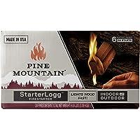 Pine Mountain StarterLogg Select-A-Size Firestarting Blocks, 24 Starts Firestarter Wood Fire Log for Campfire, Fireplace…