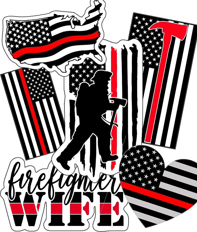 Firefighter Stickers - Great Choice As Firefighter Helmet Stickers - Waterproof, Durable 100% Vinyl - Anywhere You Need Firefighter Stickers for Water Bottles, Laptop, Car Decal