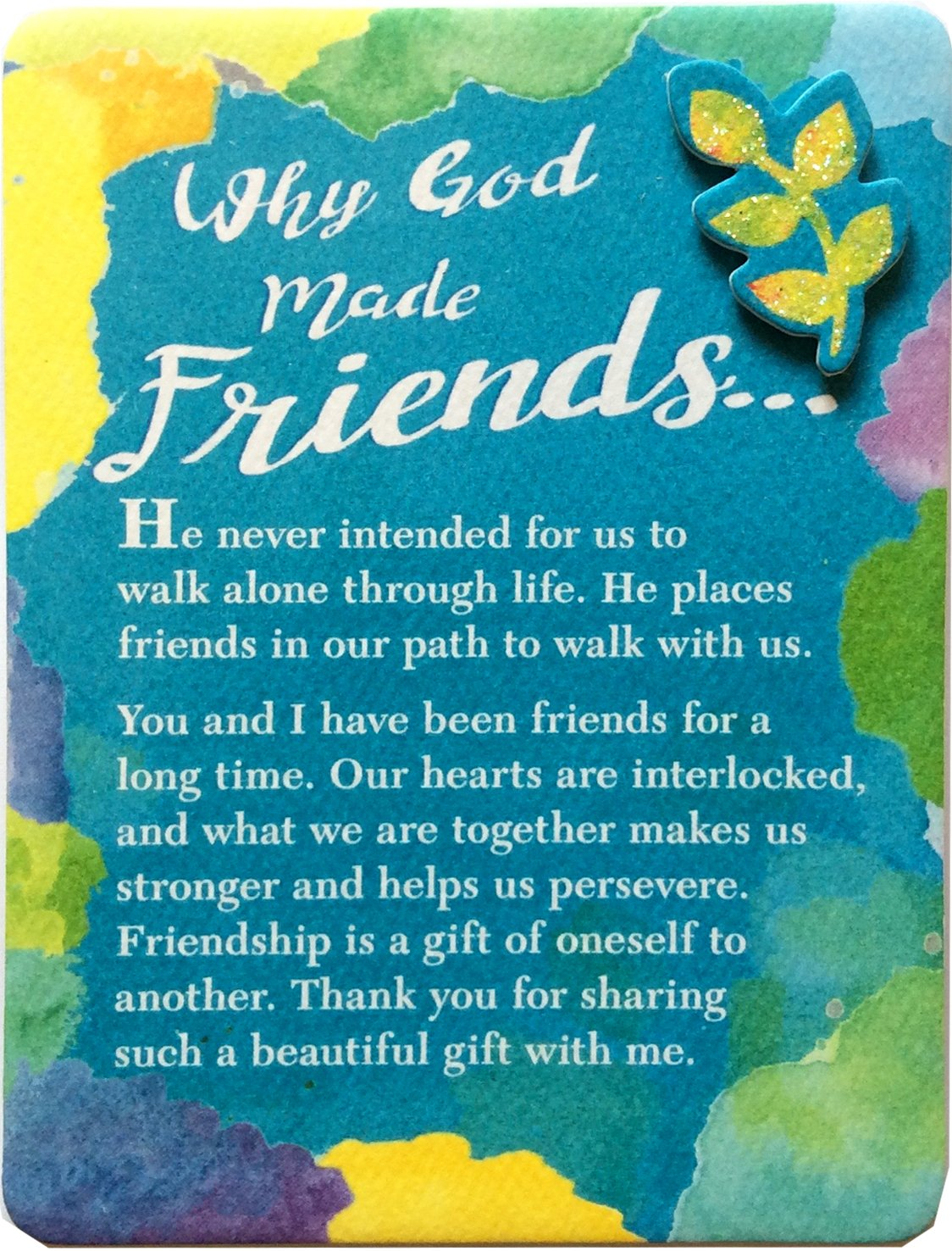 "Blue Mountain Arts Miniature Easel Print with Magnet ""Why God Made Friends"" 4.9 x 3.6 in., Sentimental Friendship Gift of Faith and Inspiration for Someone Who Is a Blessing in Your Life"