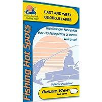 Okoboji Lakes-East/West Fishing Map