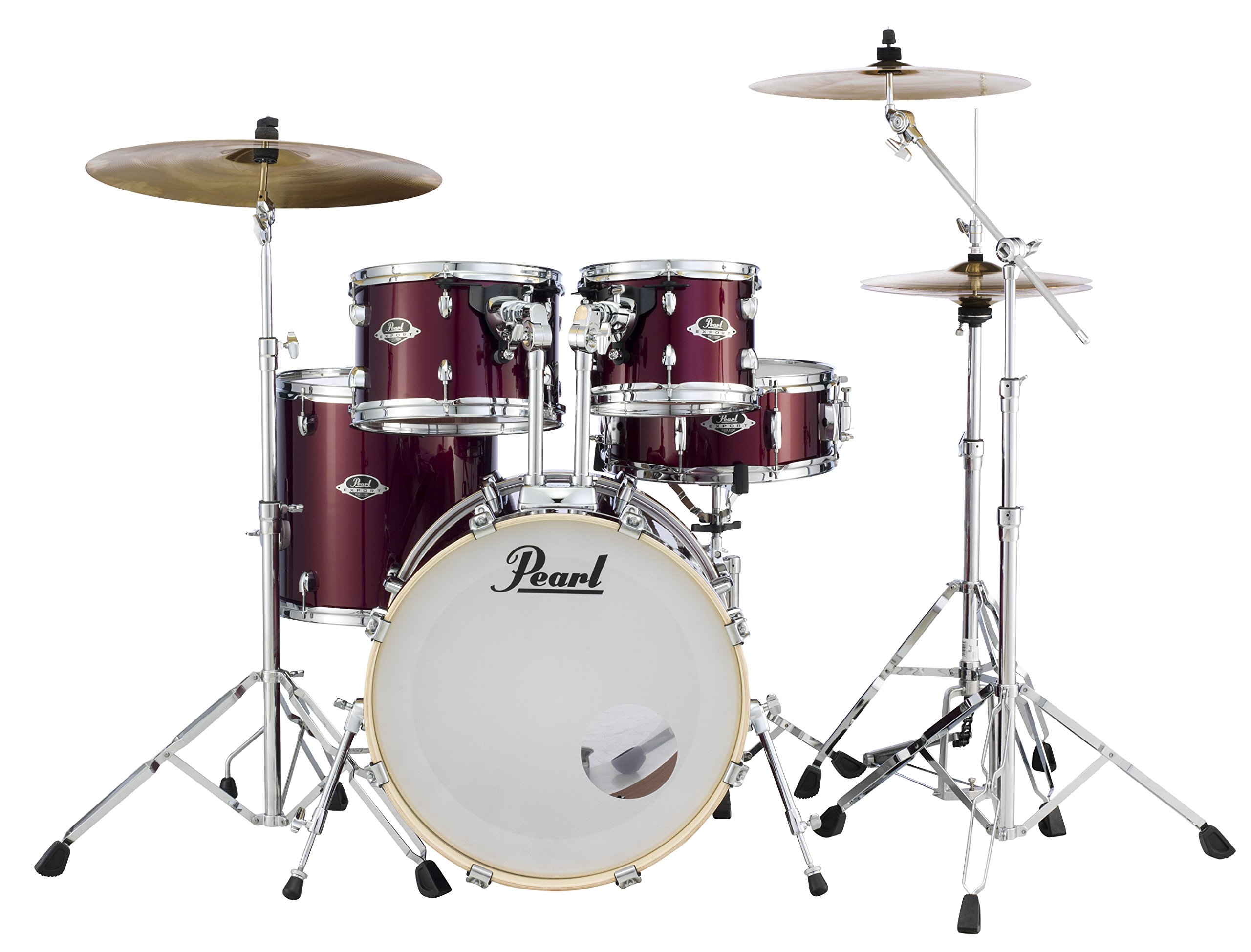 Pearl Export 5-pc. Drum Set w/830-Series Hardware Pack (cymbals not included) BURGUNDY EXX705N/C760
